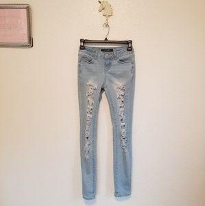 🍂Wax Jean - Light Wash Skinny Jeans